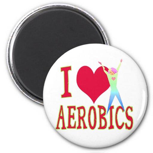 I Love Aerobics Fridge Magnets