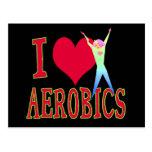 I Love Aerobics Post Cards