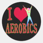 I Love Aerobics Sticker