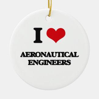 I love Aeronautical Engineers Christmas Ornaments