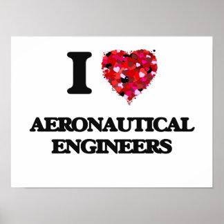 I love Aeronautical Engineers Poster