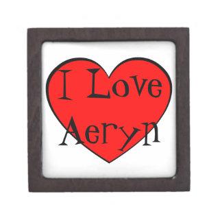 I Love Aeryn Heart Premium Jewelry Boxes