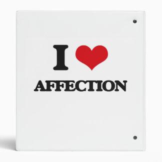 I Love Affection Vinyl Binders