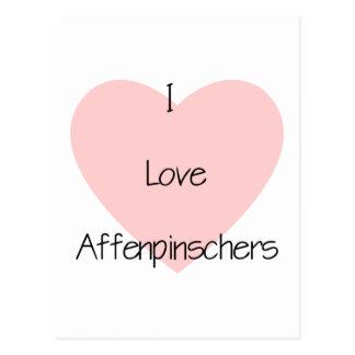 I Love Affenpinschers (2) Postcard