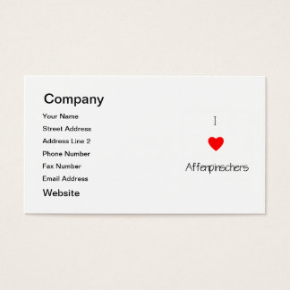 I Love Affenpinschers Business Card