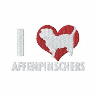 I Love Affenpinschers Embroidered Hoodie