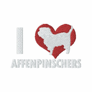 I Love Affenpinschers Embroidered Hoodie