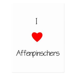 I Love Affenpinschers Postcard