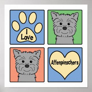 I Love Affenpinschers Posters