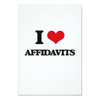 "I Love Affidavits 3.5"" X 5"" Invitation Card"