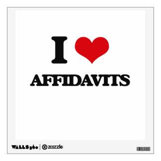I Love Affidavits Room Stickers
