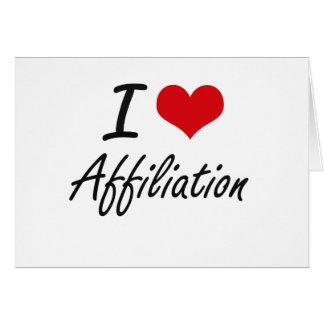 I Love Affiliation Artistic Design Stationery Note Card