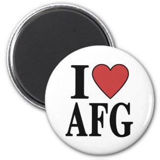 I Love AFG 2 Inch Round Magnet