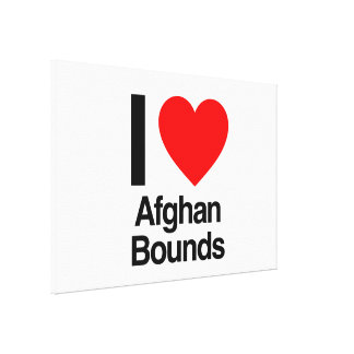 i love afghan bounds gallery wrap canvas