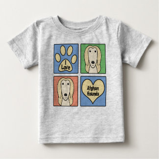 I Love Afghan Hounds Baby T-Shirt