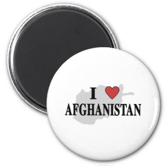 I Love Afghanistan 2 Inch Round Magnet