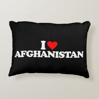 I LOVE AFGHANISTAN DECORATIVE PILLOW