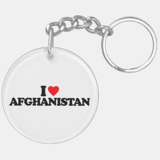 I LOVE AFGHANISTAN KEYCHAINS
