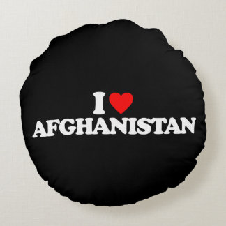 I LOVE AFGHANISTAN ROUND PILLOW