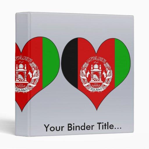 I Love Afghanistan Vinyl Binders