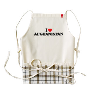 I LOVE AFGHANISTAN ZAZZLE HEART APRON
