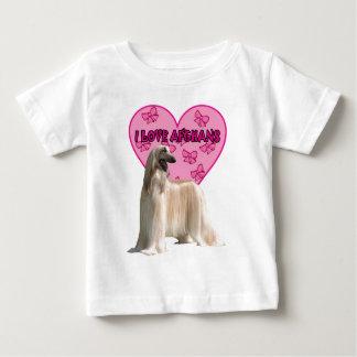I Love Afghans, Afghan Dog, Big Dog Baby T-Shirt