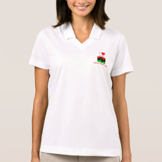 I Love Africa, Africa Must Unite Polo T-shirt