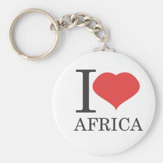 I love Africa Basic Round Button Keychain