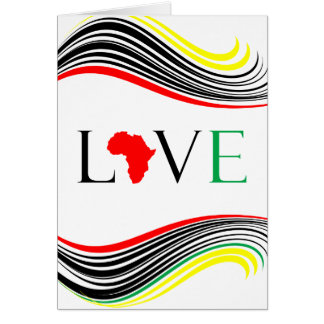 I Love Africa Black and White Zebra Print Card