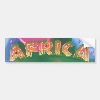 I Love Africa Bumper Sticker
