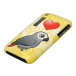 I Love Africa Greys Case-Mate iPhone 3 Cases