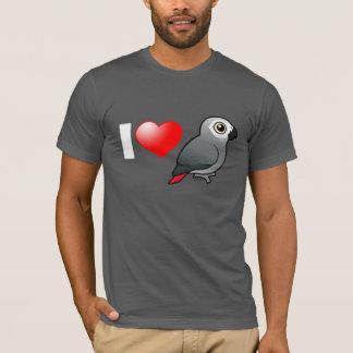 I Love Africa Greys T-Shirt