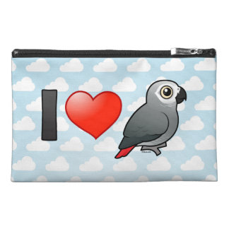 I Love Africa Greys Travel Accessory Bags