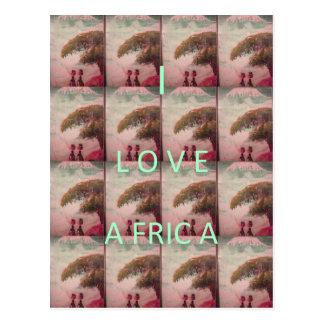I Love Africa Hakuna Matata Kilimanjaro Mountain A Postcard