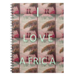 I Love Africa Hakuna Matata Kilimanjaro Mountain A Spiral Notebook