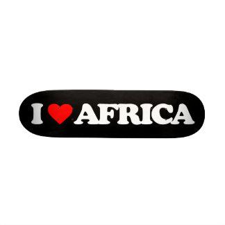 I LOVE AFRICA SKATEBOARD DECK