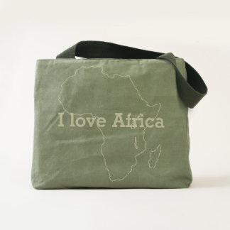 i love Africa.text Tote