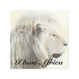 I love Africa white lion Canvas Print