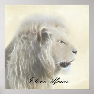 I love Africa white lion Poster