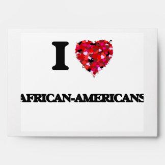 I Love African-Americans Envelopes