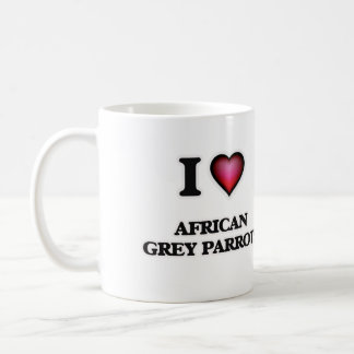 I Love African Grey Parrots Coffee Mug