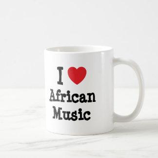 I love African Music heart custom personalized Coffee Mug