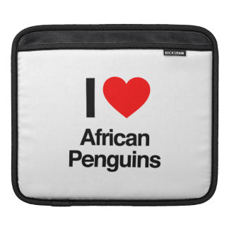 i love african penguins iPad sleeve