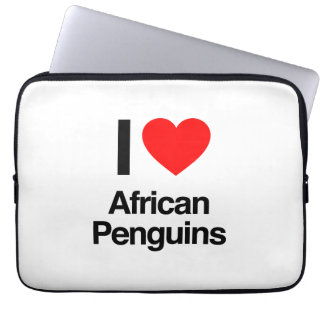 i love african penguins laptop sleeves
