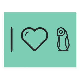 I Love African Penguins Postcard