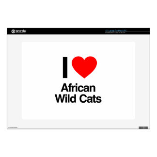 i love african wild cats laptop skins