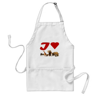 I love African Wildlife Collage VI Adult Apron