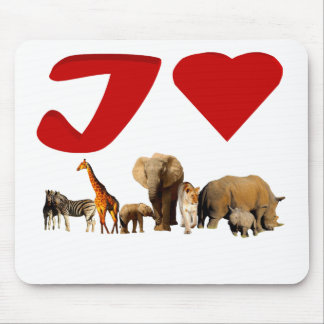 I love African Wildlife Collage VI Mouse Pad