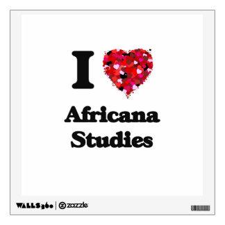 I Love Africana Studies Wall Skins