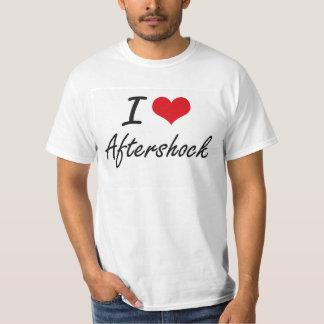 I Love Aftershock Artistic Design Tee Shirt